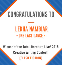 First Winner of TATA Literature Live! 2015's Flash Fiction Contest