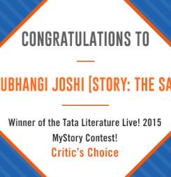 Tata Literature Live! MyStory 2015, Winning Entry: The Sari