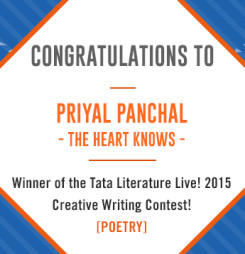 First Winner of TATA Literature Live! 2015's Creative Writing Contest: The Heart Knows
