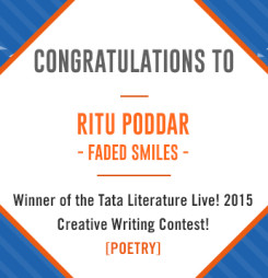 Second Winner of TATA Literature Live! 2015's Creative Writing Contest: Faded Smiles